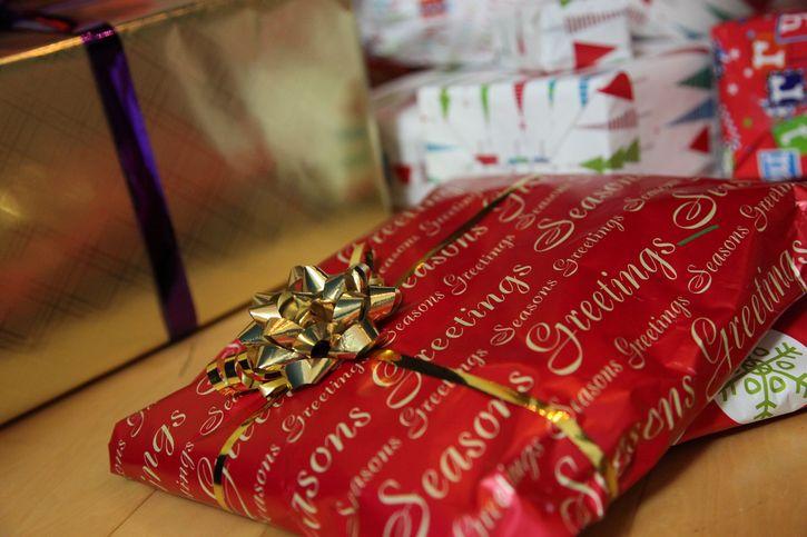 regalo de navidad envoltura