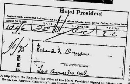 registro hotel