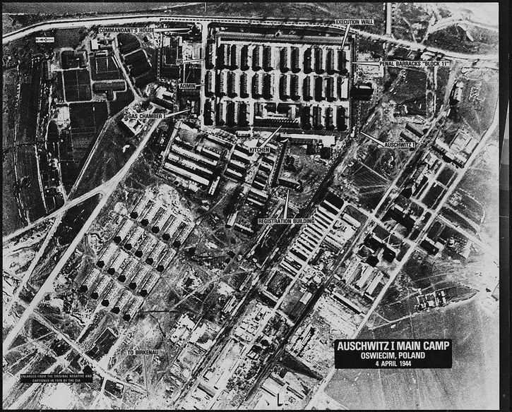 Auschwitz 1944 vista aerea