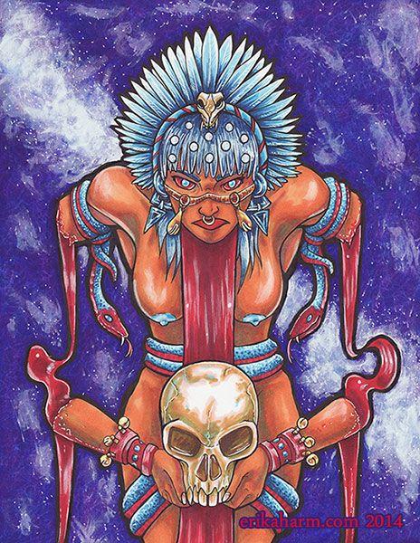 Coyolxauhqui ilustracion