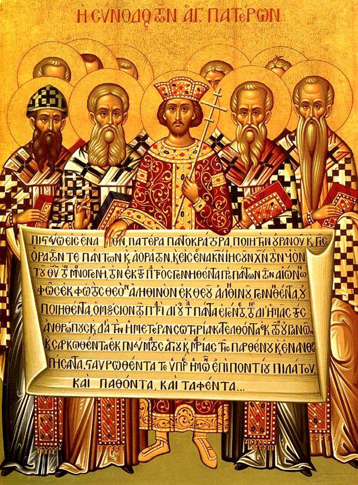 Imagen representativa del primer Concilio de Nicea.