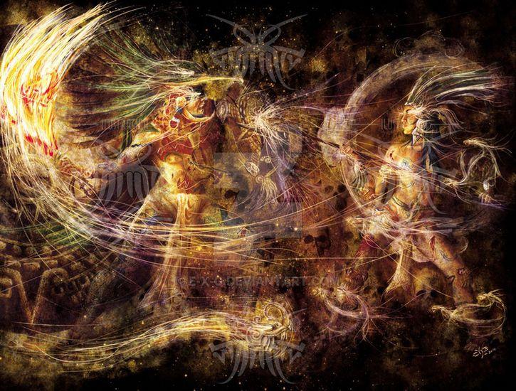 Huitzilopochtli vs Coyolxauhqui. Imagen por E-X.G.
