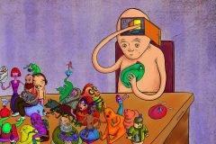 """Dibujos intrigantes de """"fugas subconscientes"""" por Ehsan Mehrbakhsh"""