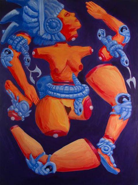la diosa de la luna Coyolxauhqui_art