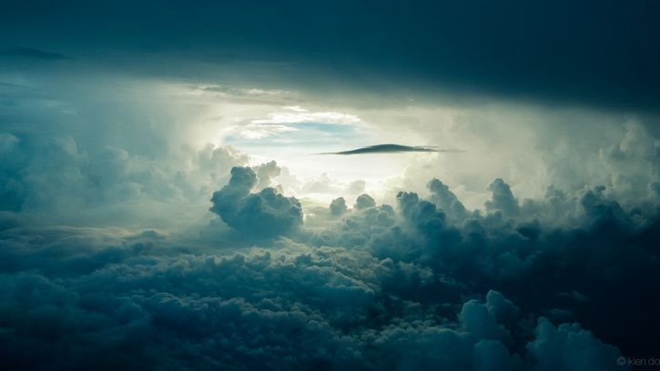 nubes tormenta cielo