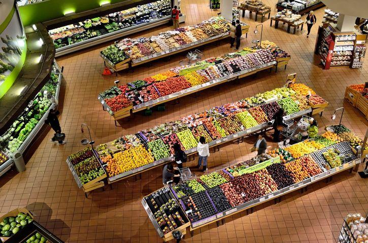 supermercado vista aerea