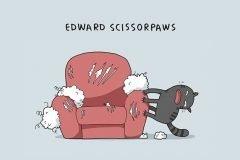 Ilustraciones divertidas con 12 tipos de gatos