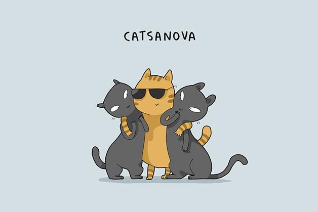Que Tipo de gato sos? ilustraciones de gatos