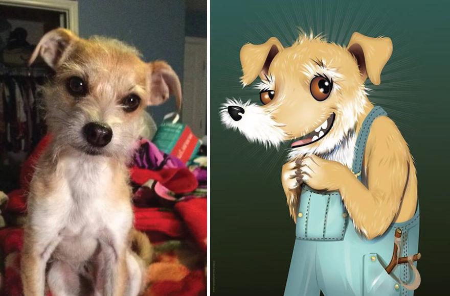 Chris Beetow mascotas ilustraciones (17)