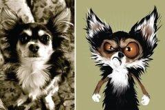 Artista dibuja mascotas según la descripción de los dueños
