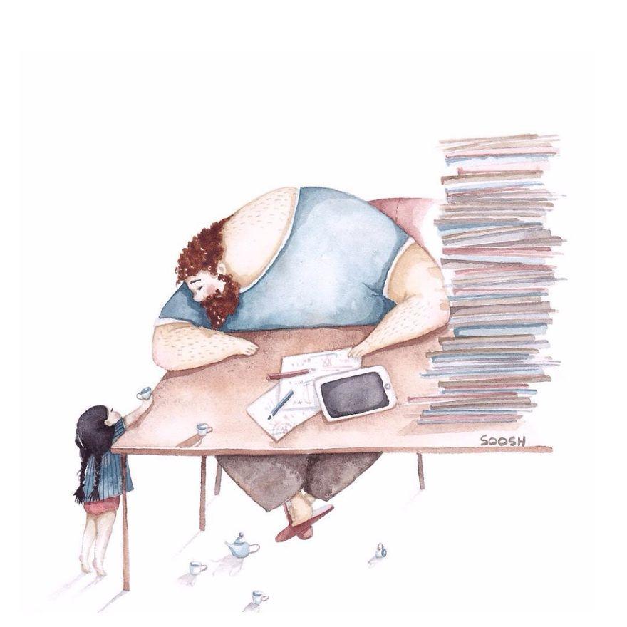 Ilustraciones padre hija Snezhana Soosh (10)