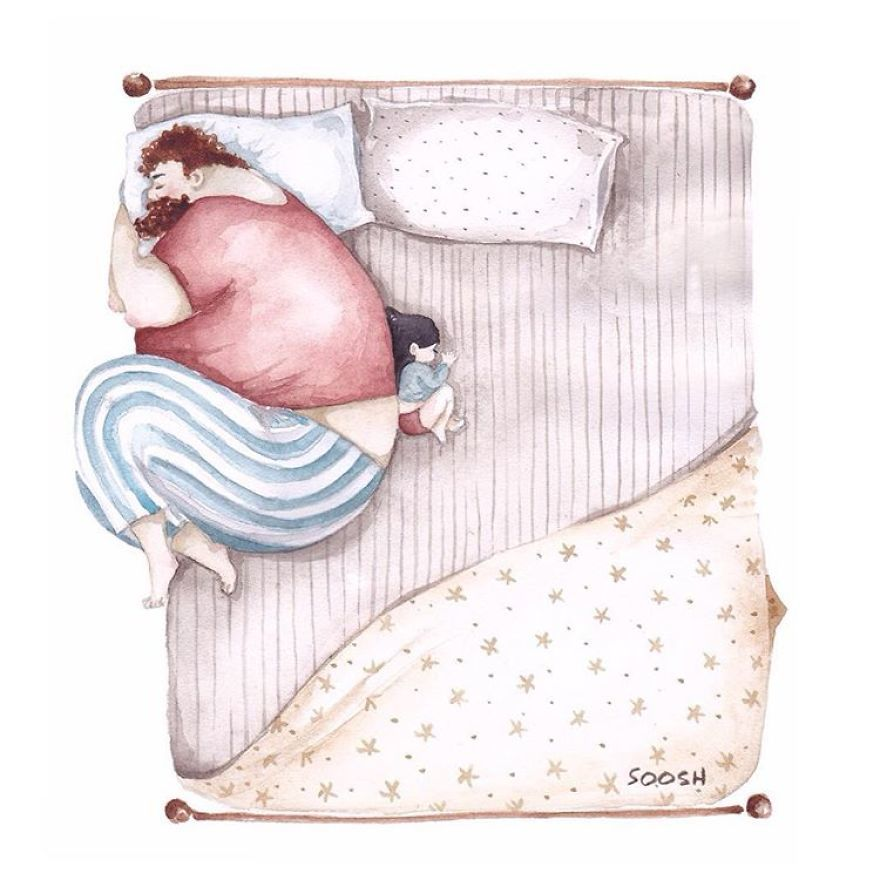 Ilustraciones padre hija Snezhana Soosh (11)
