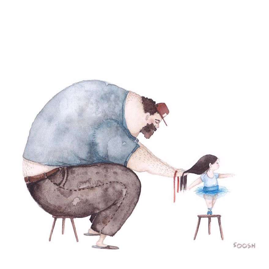 Ilustraciones padre hija Snezhana Soosh (14)