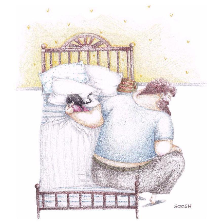 Ilustraciones padre hija Snezhana Soosh (2)