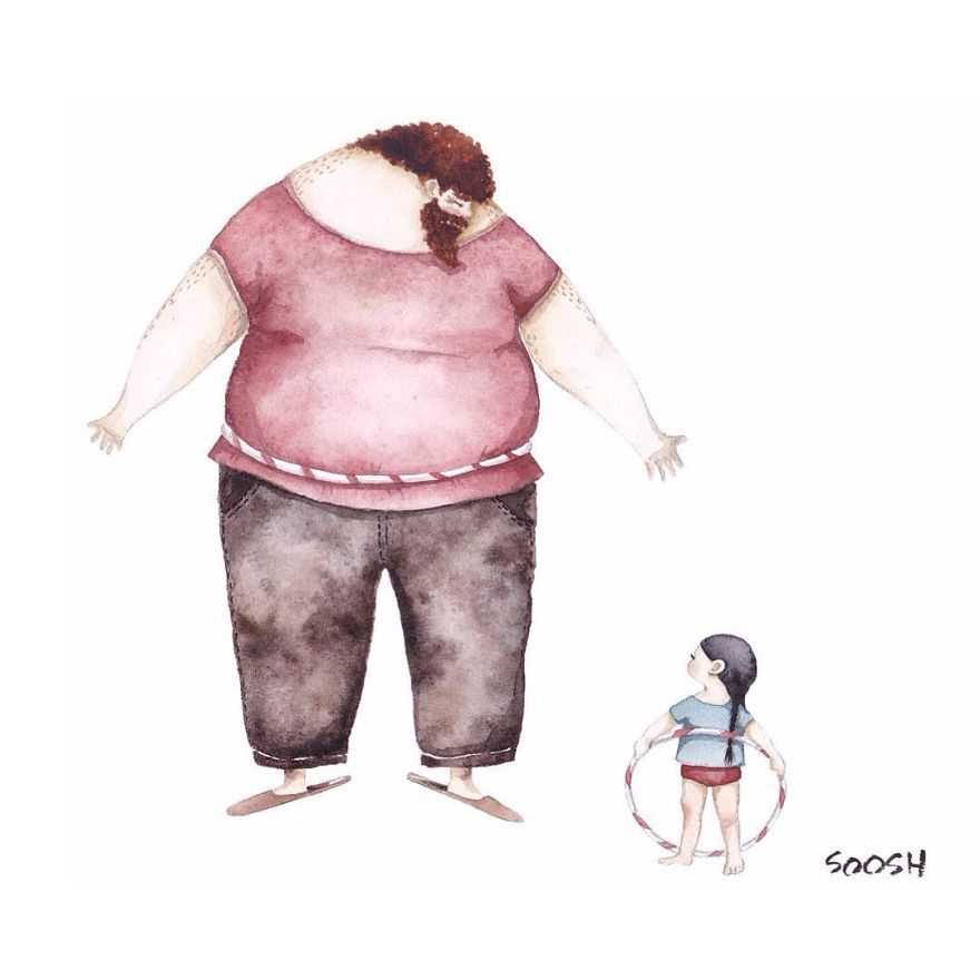 Ilustraciones padre hija Snezhana Soosh (3)