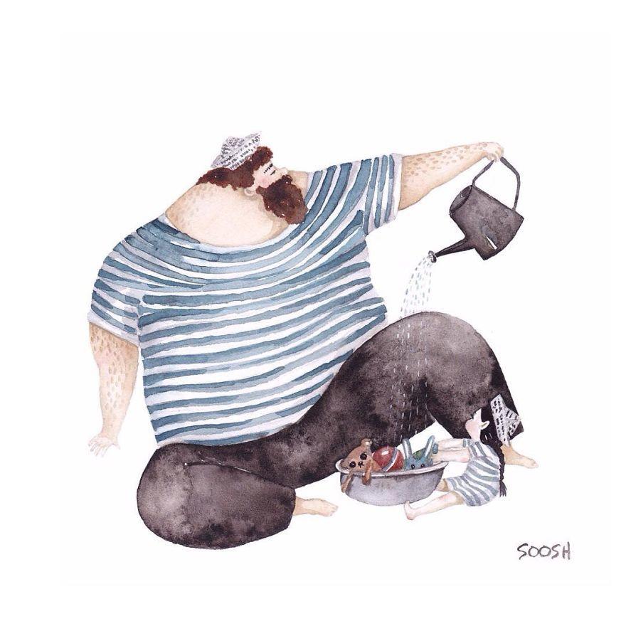 Ilustraciones padre hija Snezhana Soosh (4)