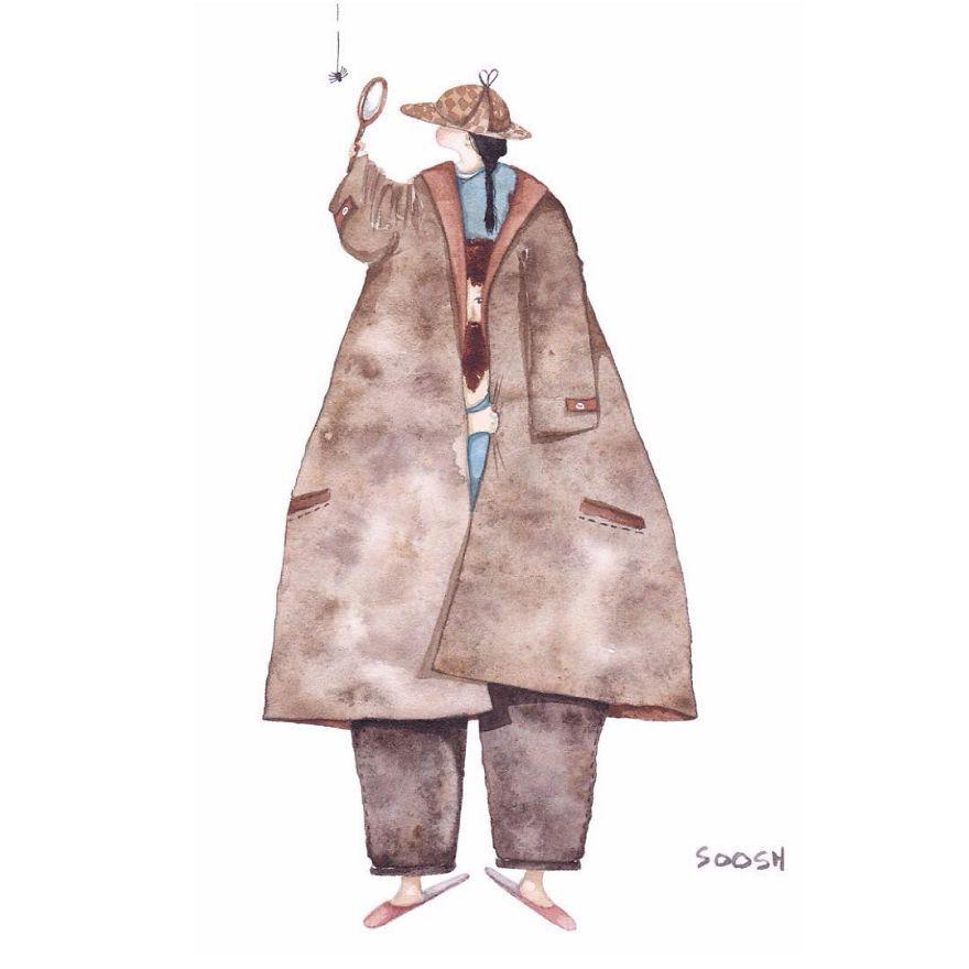 Ilustraciones padre hija Snezhana Soosh (5)