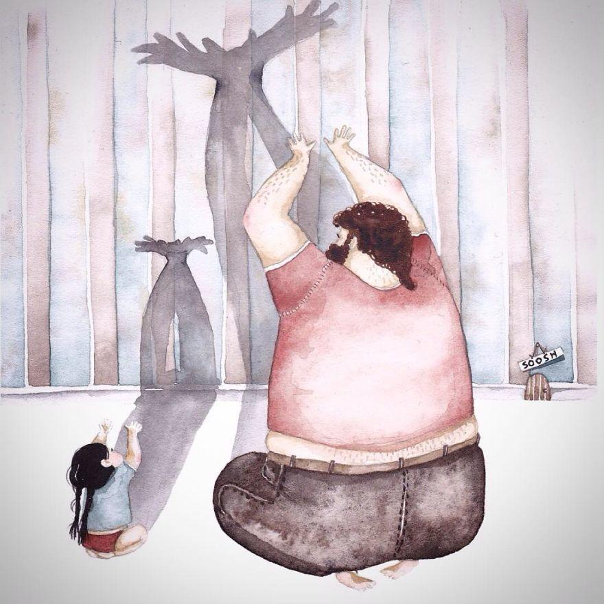 Ilustraciones padre hija Snezhana Soosh (6)