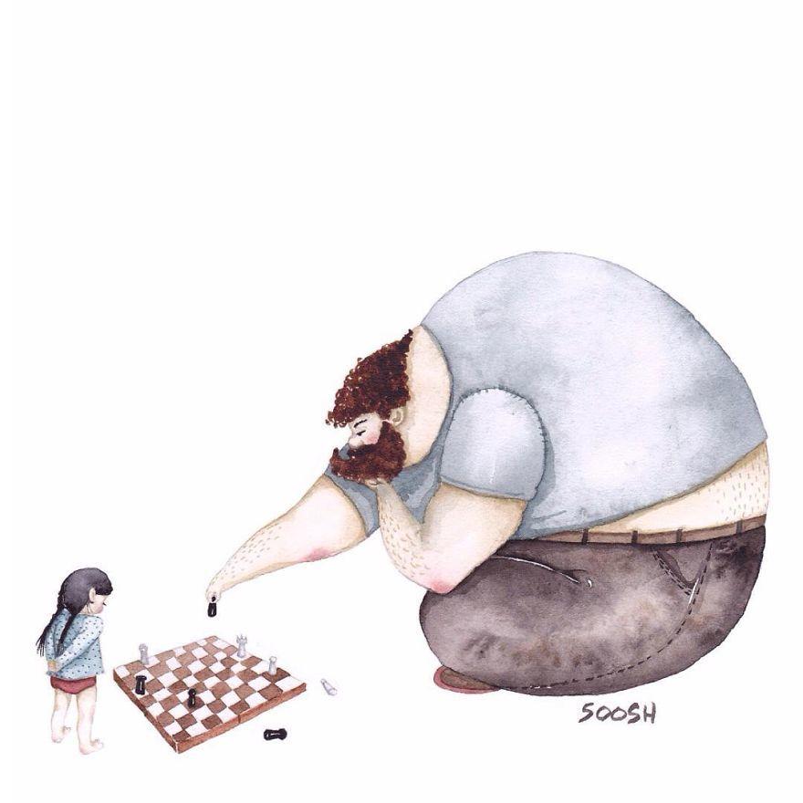 Ilustraciones padre hija Snezhana Soosh (7)