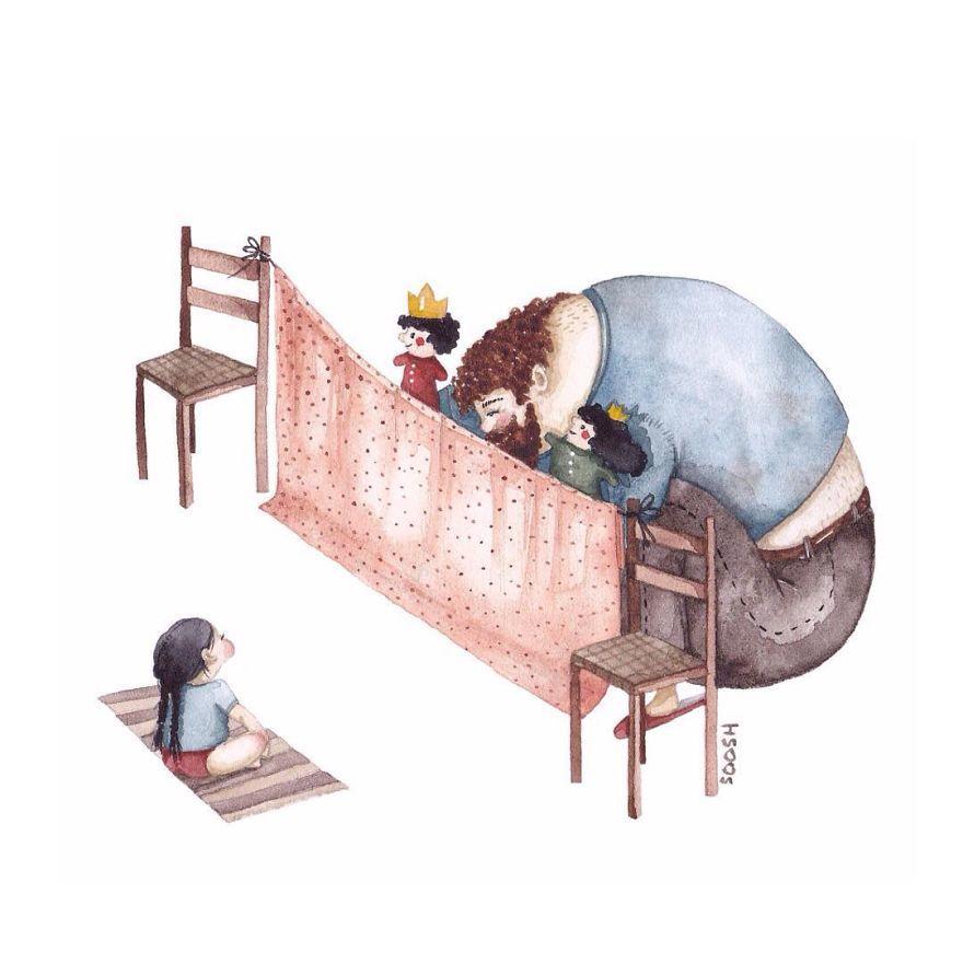 Ilustraciones padre hija Snezhana Soosh (9)