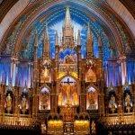 La imponente basílica de Notre-Dame, en Montreal