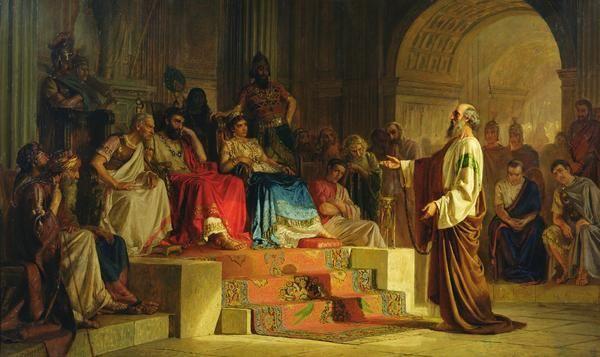 El juicio del apóstol Pablo (1875), de Nikolai Kornilievich