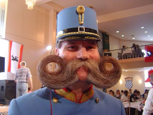 bigote con estilo