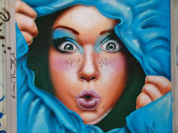 mural ojos pintura