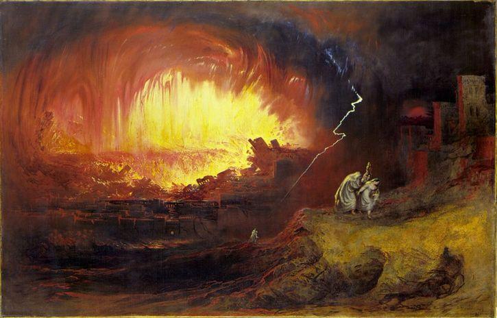sodoma y gomorra pintura