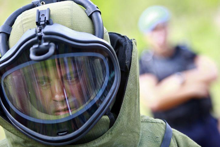 traje contra granadas