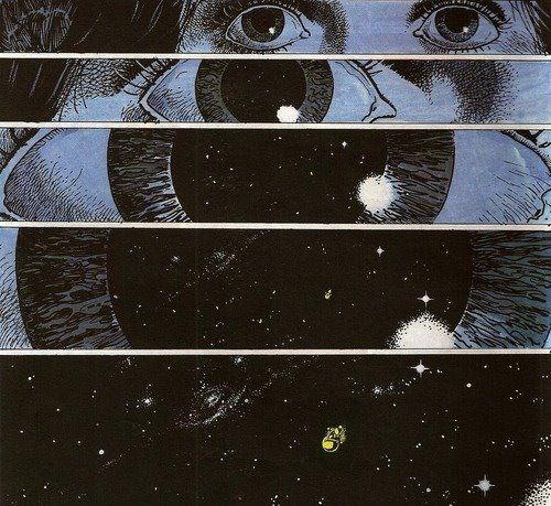 universo dentro de los ojos