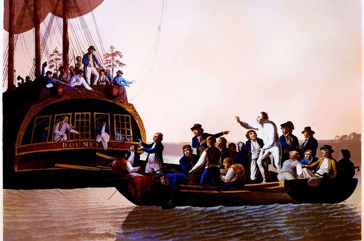 Motín del HMS Bounty pintura