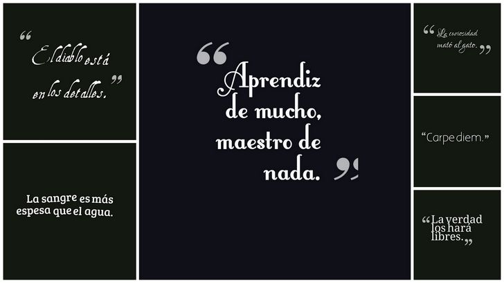 collage de frases y dichos