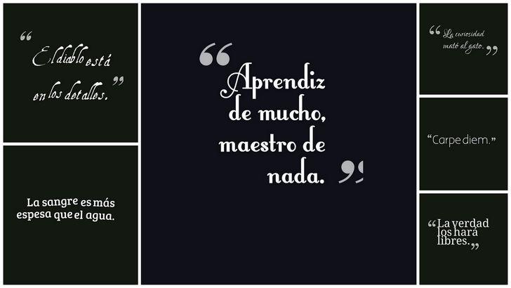 collage de frases y dichos