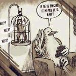 21 ilustraciones de cosas ridículas que hacemos con animales