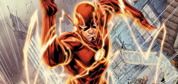 flash corriendo comic