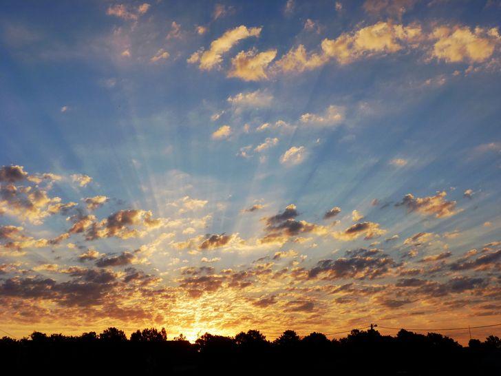paisabe atardecer nubes