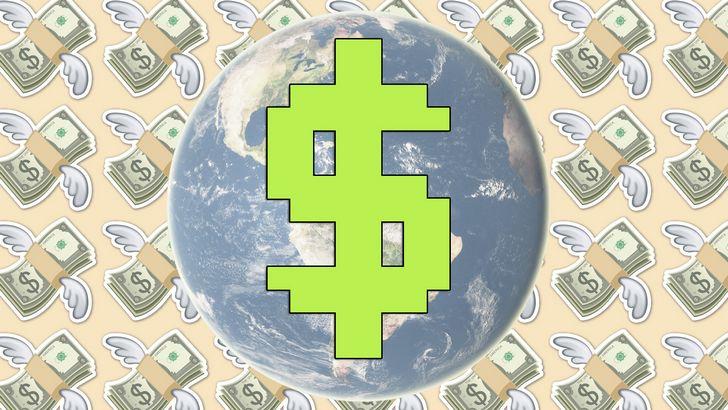 planeta tierra dinero