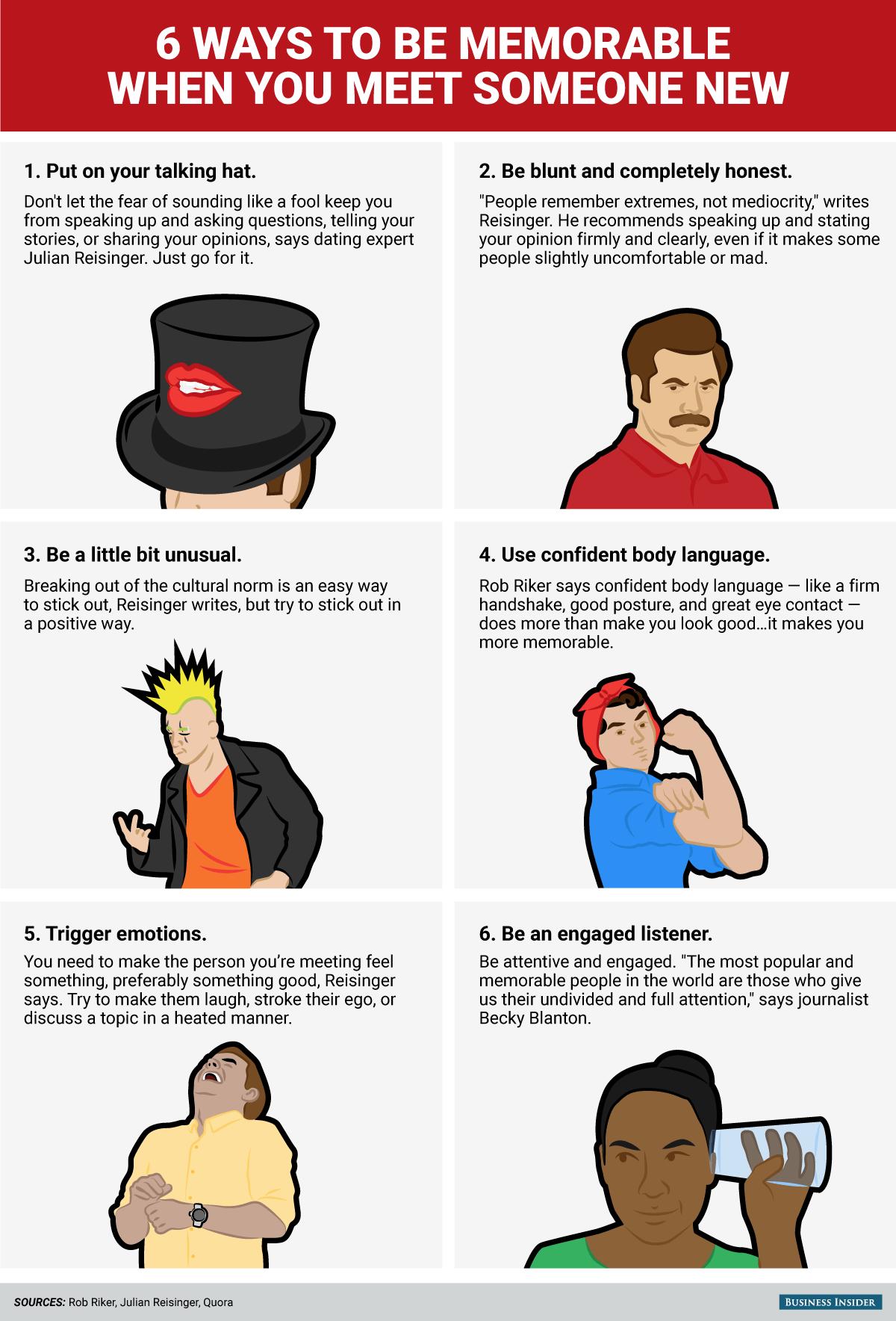 seis formas de ser memorable
