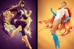 """""""Splash Heroes"""", increíbles fotografías y disfraces hechos con leche"""