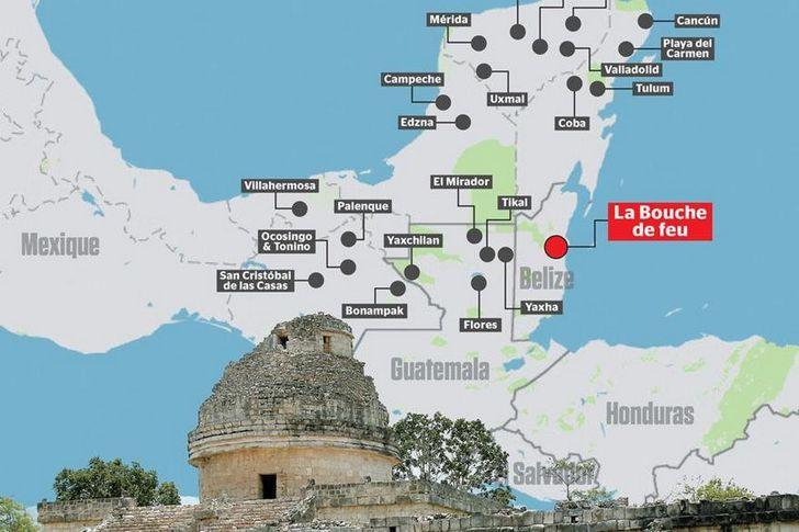 ubicacion ciudad maya
