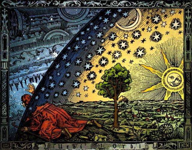 asomandose al universo tierra plana