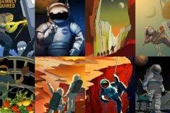 Carteles de la NASA reclutan exploradores para misión a Marte
