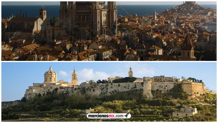 escenarios game of thrones realidad Mdina Kings Landing