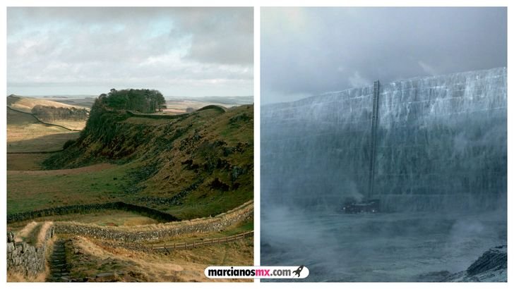 escenarios game of thrones realidad Muro de Adriano the Wall