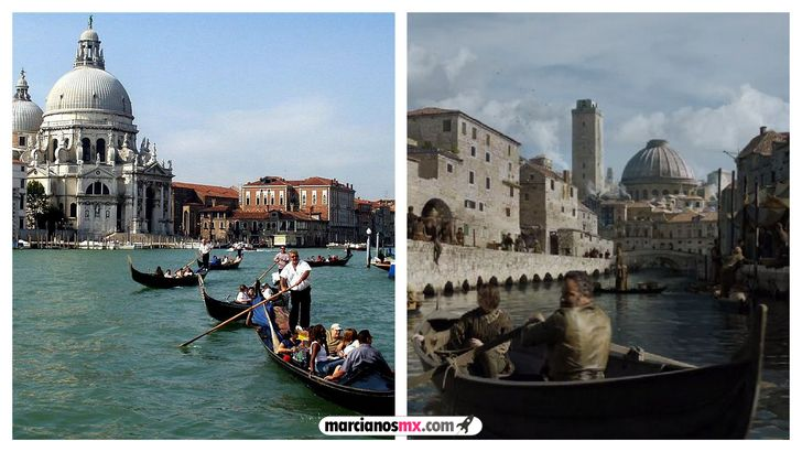 escenarios game of thrones realidad braavos venecia