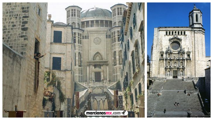 escenarios game of thrones realidad catedral de Girona  septo
