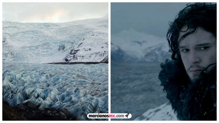 escenarios game of thrones realidad norte del muro Svínafellsjökull