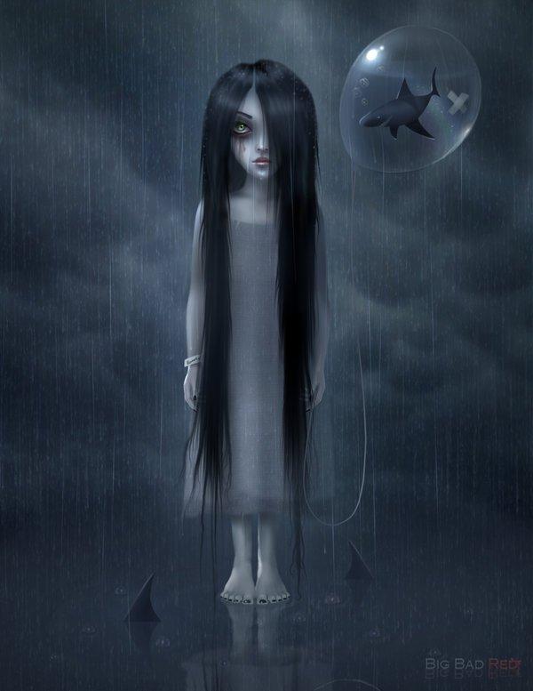 ilustracion niña con esquizofrenia