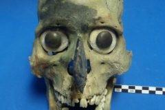 Máscaras aztecas del Templo Mayor hechas con guerreros sacrificados